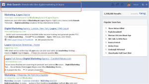 facebook graph search result for friends who like digital marketing in lagos