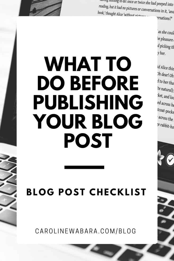 Blog post checklist: Discover what to do before publishing blog post